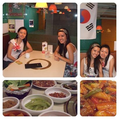 chantelle loves korean food!