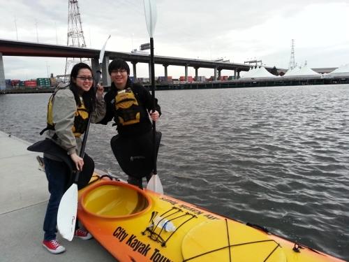 gin and johan kayak 1